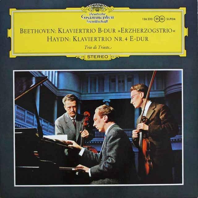 トリエステ・トリオのベートーヴェン/ピアノ三重奏曲「大公」ほか 独DGG 3309 LP レコード