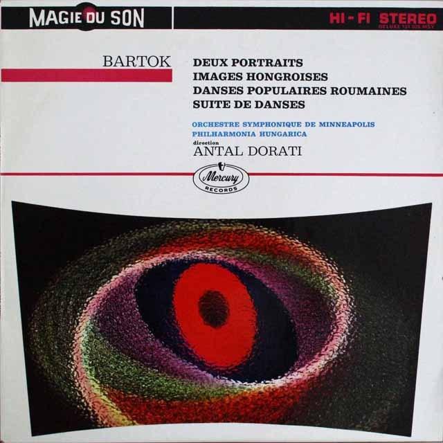 ドラティのバルトーク/「2つの肖像」ほか 仏MERCURY 3309 LP レコード