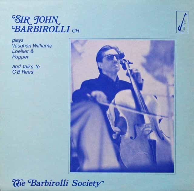 """バルビローリ協会/演奏と1960年BBC""""Pople Today""""より 英バルビローリ協会 3298 LP レコード"""