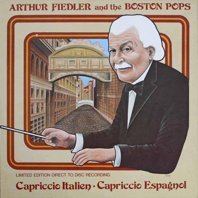 フィードラー&ボストン・ポップスのチャイコフスキー/イタリア奇想曲ほか 独Crystal Clear 3309 LP レコード