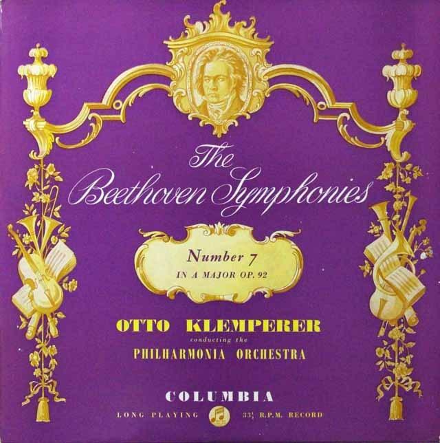 クレンペラーのベートーヴェン/交響曲第7番 英Columbia 2813 LP レコード