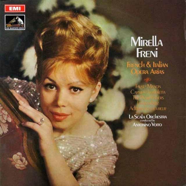 フレーニのフランス&イタリアオペラアリア集 英EMI 2813 LP レコード