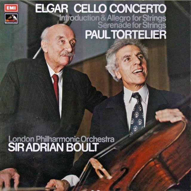 トルトゥリエ&ボールトのエルガー/チェロ協奏曲ほか 英EMI オリジナル盤 2813 LP レコード