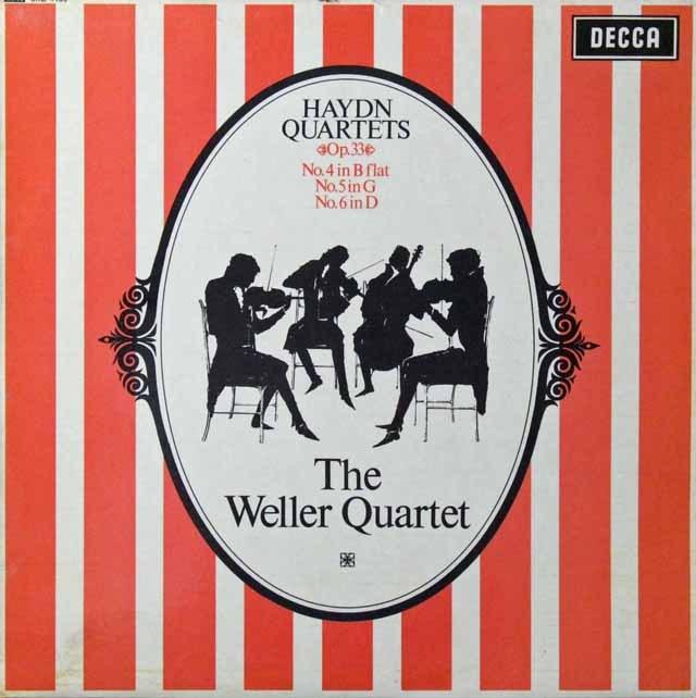 ウェラー四重奏団のハイドン/弦楽四重奏曲作品33-4、5&6 英DECCA 2813 LP レコード