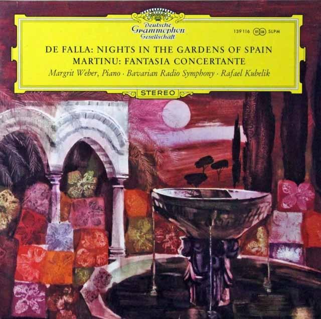 クーベリックのファリャ/スペインの庭の夜ほか 独DGG 3298 LP レコード