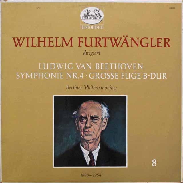 フルトヴェングラーのベートーヴェン/交響曲第4番ほか 独HELIODOR 3310 LP レコード