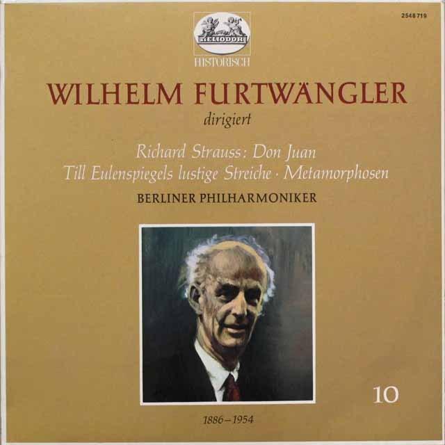 フルトヴェングラーのR.シュトラウス/「ドン・ファン」ほか 独HELIODOR 3310 LP レコード
