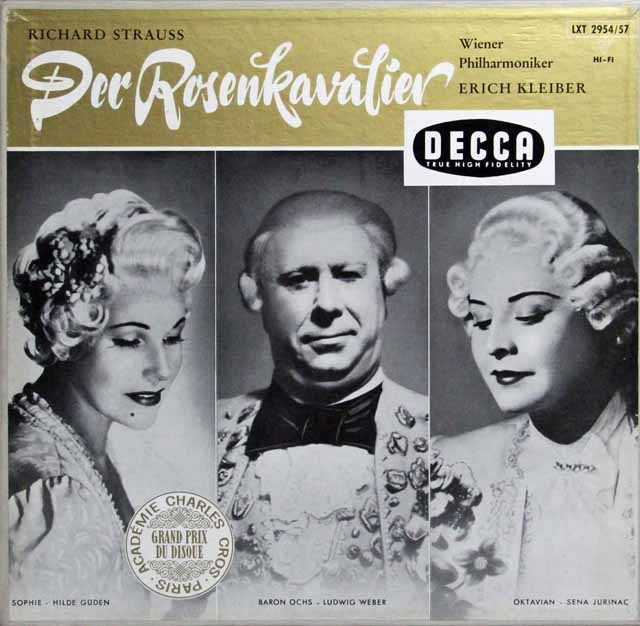 E.クライバーのR.シュトラウス/「ばらの騎士」 独DECCA 2813 LP レコード