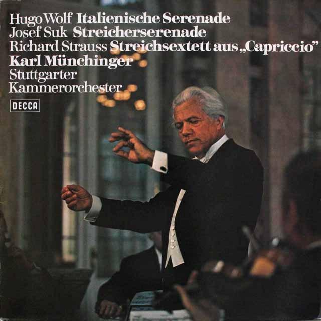 ミュンヒンガーのヴォルフ/「イタリアのセレナーデ」ほか 独DECCA 3310 LP レコード