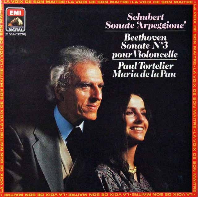 トルトゥリエ&ポーのシューベルト/アルペジョーネソナタほか 仏EMI 2813 LP レコード
