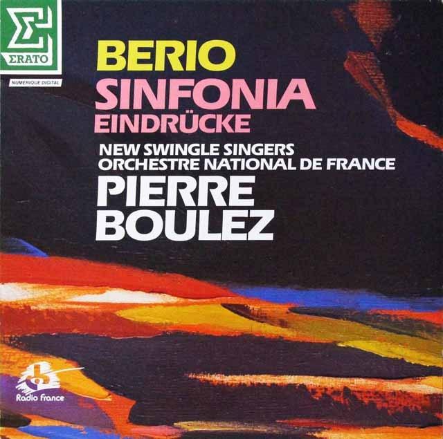 ブーレーズのベリオ/シンフォニアほか 仏ERATO 3298 LP レコード