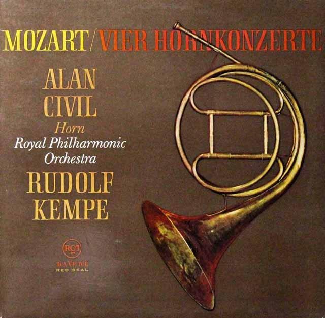 シヴィル&ケンペのモーツァルト/ホルン協奏曲集 独RCA 3298 LP レコード
