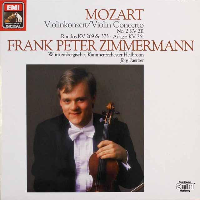 ツィンマーマンのモーツァルト/ヴァイオリン協奏曲第2番ほか  独EMI 3310 LP レコード