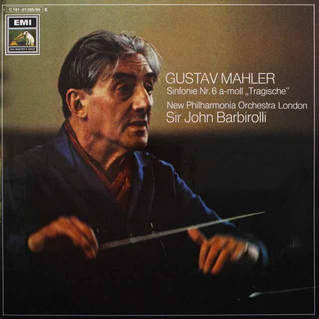 バルビローリのマーラー/交響曲第6番「悲劇的」 独EMI 3310 LP レコード