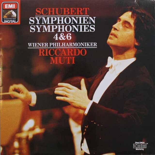 ムーティのシューベルト/交響曲第4、6番 独EMI 3310 LP レコード