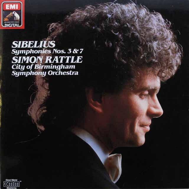 ラトルのシベリウス/交響曲第3、7番   英EMI 3310 LP レコード