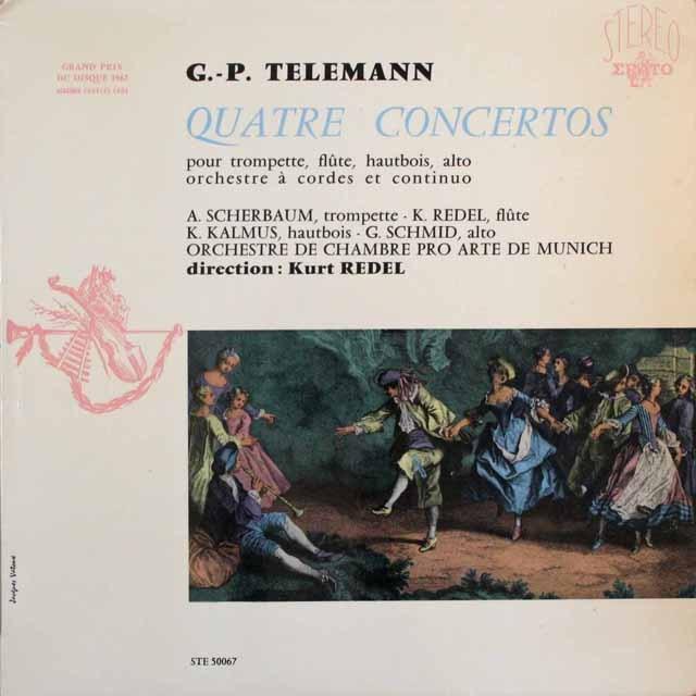 レーデルのテレマン/協奏曲集 仏ERATO 3310 LP レコード