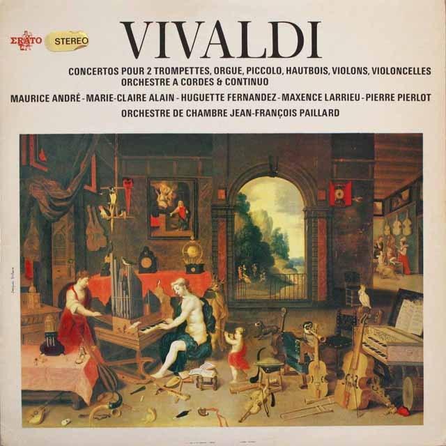 パイヤールのヴィヴァルディ/協奏曲集  仏ERATO   2539 LP レコード