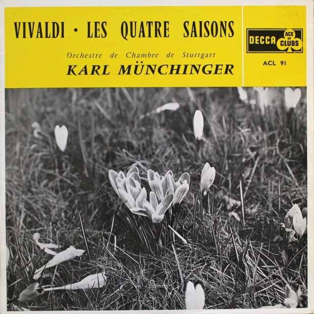 ミュンヒンガーのヴィヴェルディ/「四季」  仏DECCA   2539 LP レコード
