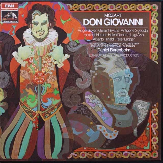 バレンボイムのモーツァルト/「ドン・ジョヴァンニ」全曲 仏EMI 3310 LP レコード