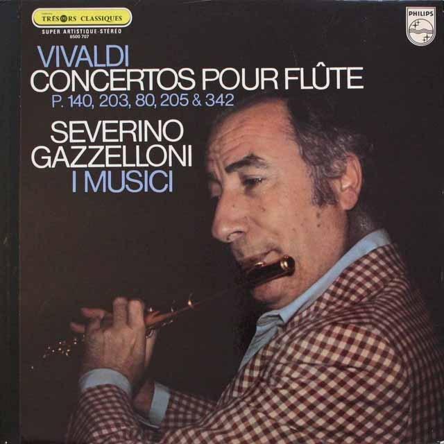 ガッゼローニとイ・ムジチのヴィヴァルディ/フルート協奏曲集 仏PHILIPS 3310 LP レコード