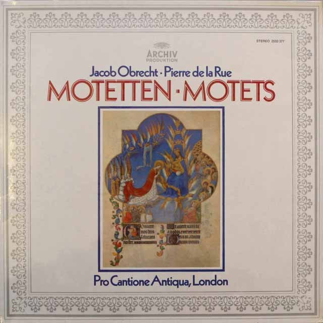 【未開封】 ターナーのオブレヒト、ド・ラ・リュー/モテット集 独ARCHIV 3311 LP レコード