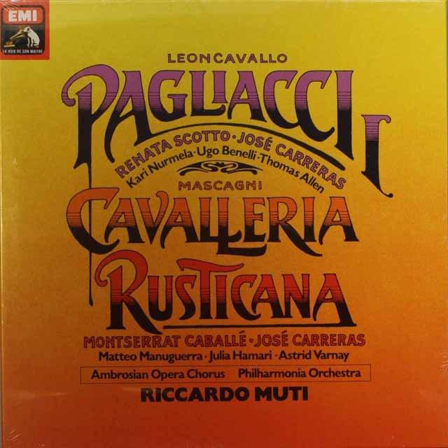 【未開封】 ムーティの「カヴァレリア」&「道化師」 仏EMI 3311 LP レコード