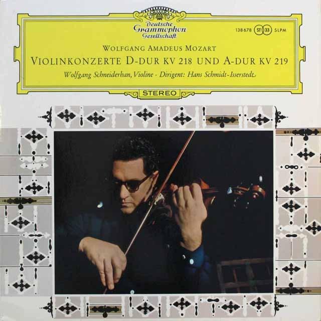 シュナイダーハンのモーツァルト/ヴァイオリン協奏曲第4、5番 独DGG 3311 LP レコード