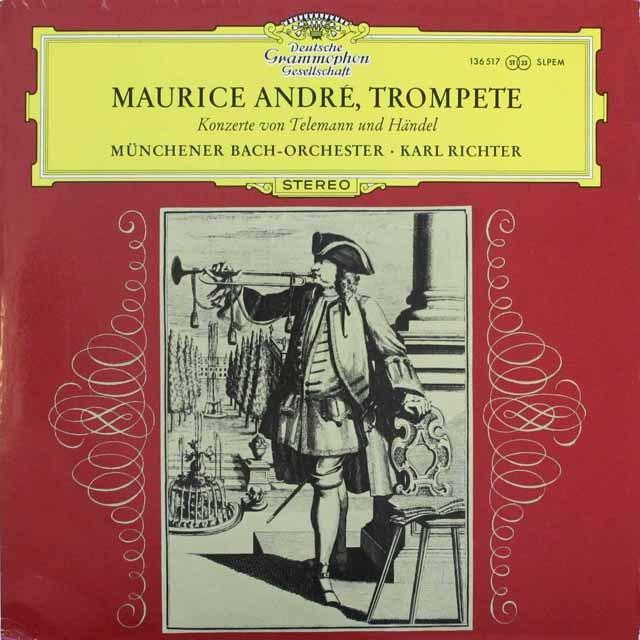 アンドレ&リヒターの「トランペット協奏曲集」 独DGG 3311 LP レコード