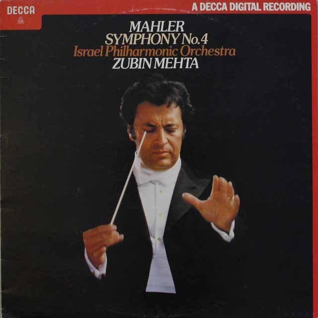 メータのマーラー/交響曲第4番 英DECCA 3314 LP レコード
