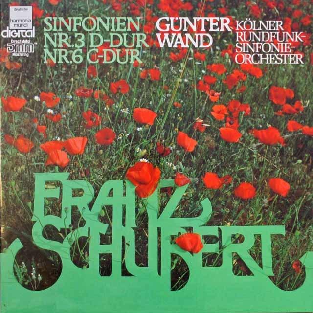 ヴァントのシューベルト/交響曲第3、6番 独HM 3314 LP レコード