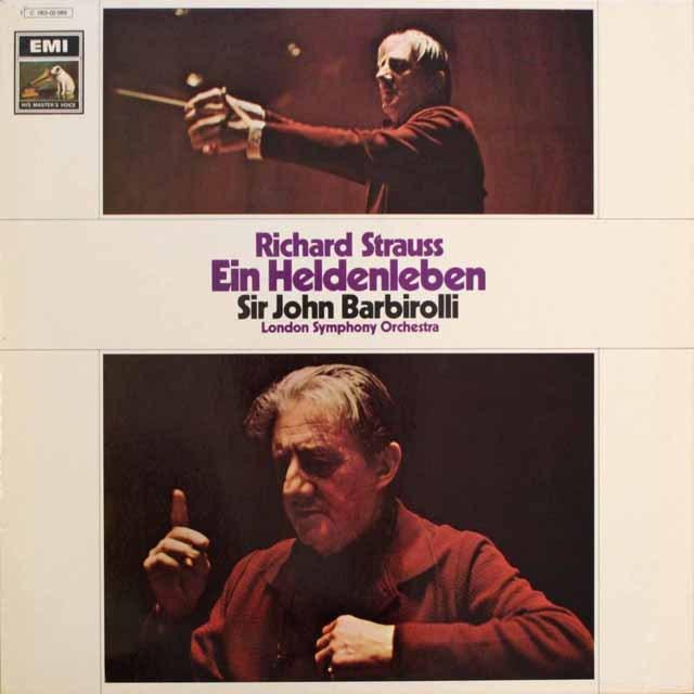 バルビローリのR.シュトラウス/「英雄の生涯」 独EMI   2545 LP レコード