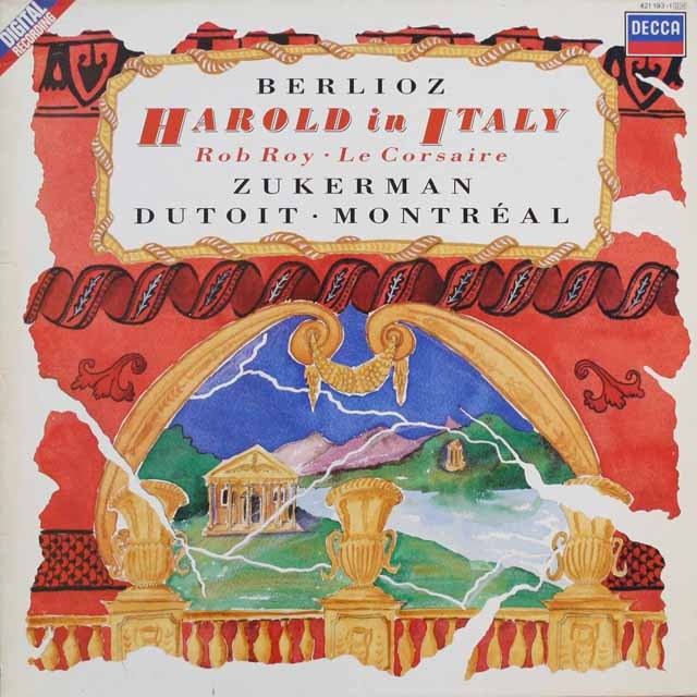 デュトワ&ズーカーマンのベルリオーズ/イタリアのハロルド   蘭DECCA   2542 LP レコード