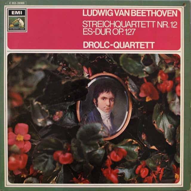 ドロルツ四重奏団のベートーヴェン/弦楽四重奏曲第12番  独EMI   2543 LP レコード