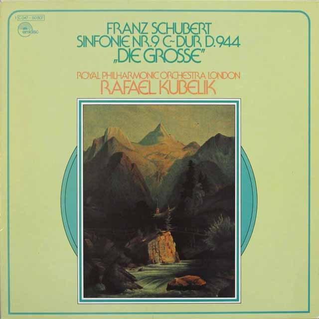 クーベリックのシューベルト/交響曲第9番「グレート」 独emidisc 3312 LP レコード