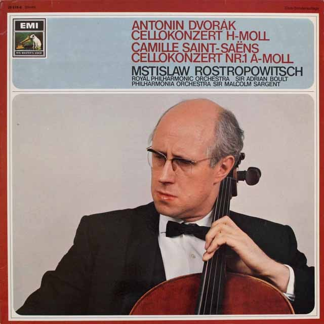 ロストロポーヴィチのドヴォルザーク/チェロ協奏曲ほか 独EMI 3312 LP レコード