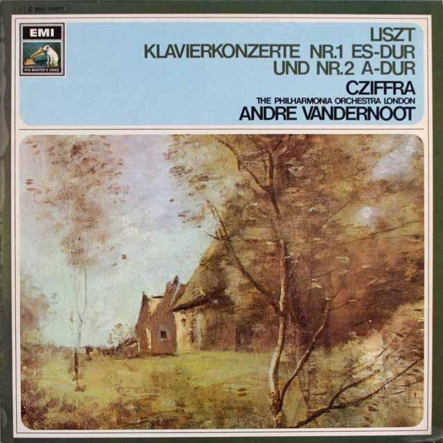 シフラ、ヴァンデルノートのリスト/ピアノ協奏曲第1、2番 独EMI 3312 LP レコード