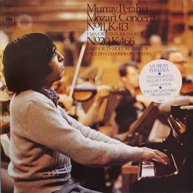 ペライアのモーツァルト/ピアノ協奏曲第11&20番  蘭CBS  2543 LP レコード