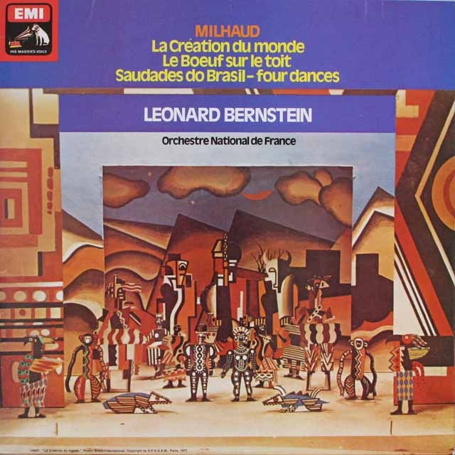 バーンスタインのミヨー/「世界の創造」ほか 英EMI 3312 LP レコード