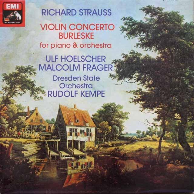 【オリジナル盤】ヘルシャー&ケンペのR.シュトラウス/ヴァイオリン協奏曲ほか   英EMI  2543 LP レコード