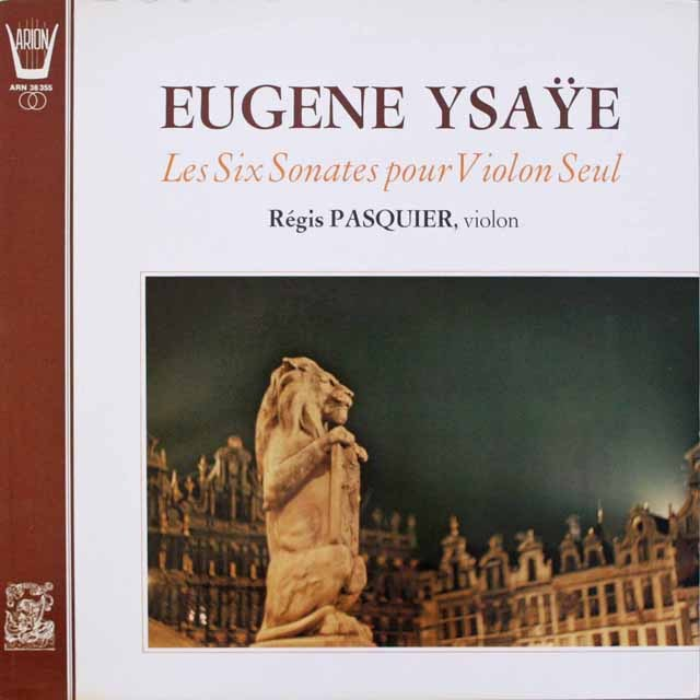 パスキエのイザイ/無伴奏ヴァイオリンのための6つのソナタ 仏ARION 3312 LP レコード