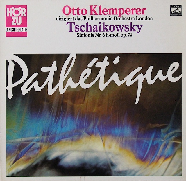 クレンペラーのチャイコフスキー/交響曲第6番「悲愴」  独HOERZU(EMI) 3298 LP レコード