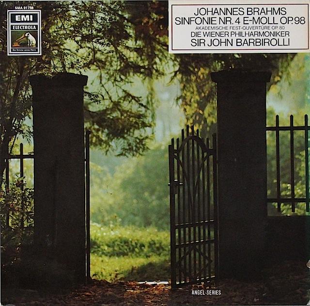 バルビローリのブラームス/交響曲第4番&大学祝典序曲 独EMI 2817 LP レコード