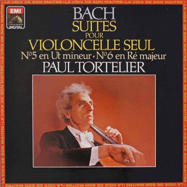 トルトゥリエのバッハ/無伴奏チェロ組曲第5&6番    仏EMI(VSM)   2548 LP レコード