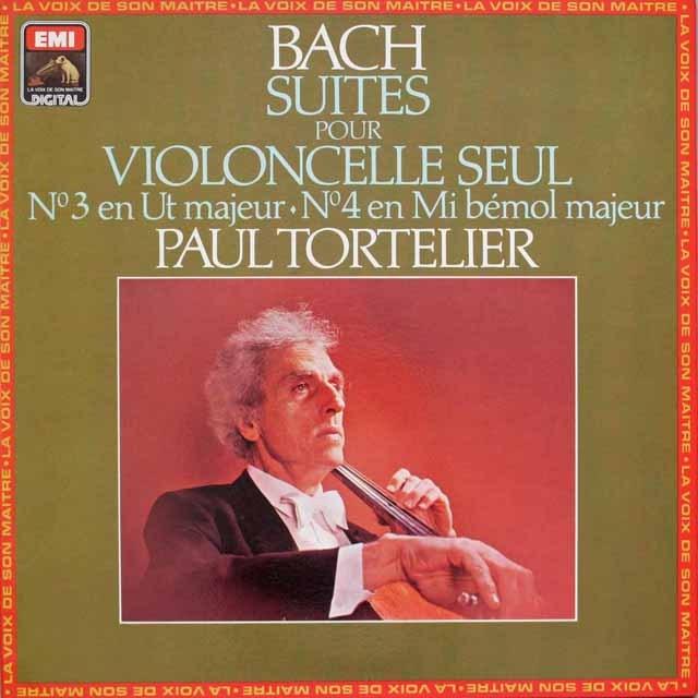 トルトゥリエのバッハ/無伴奏チェロ組曲第3番、第4番    仏EMI(VSM)   2548 LP レコード