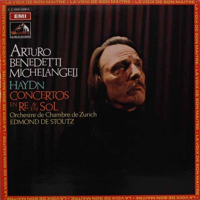 ミケランジェリのハイドン/ピアノ協奏曲集 仏EMI(VSM) 3316 LP レコード