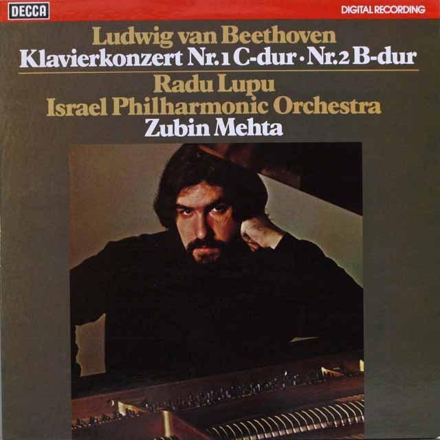 ルプー&メータのベートーヴェン/ピアノ協奏曲第1&2番   独DECCA   2548 LP レコード