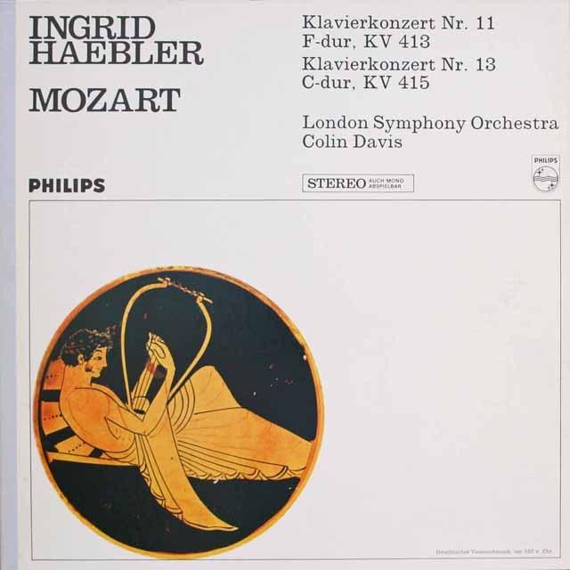 ヘブラー、デイヴィスのモーツァルト/ピアノ協奏曲第11、13番 蘭PHILIPS 3314 LP レコード