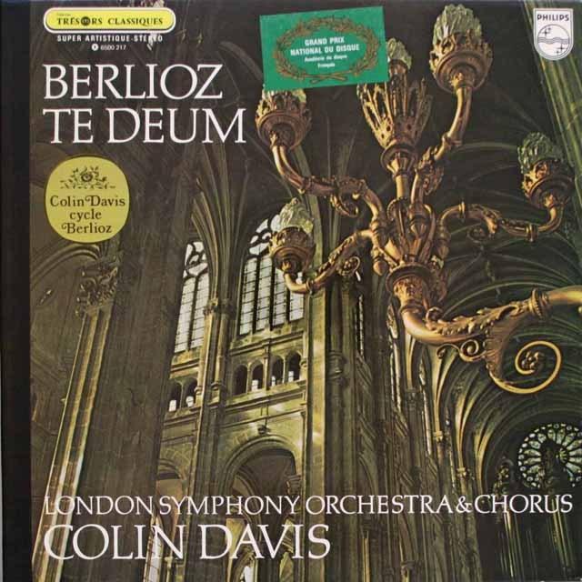 デイヴィスのベルリオーズ/「テ・デウム」 仏PHILIPS 3314 LP レコード