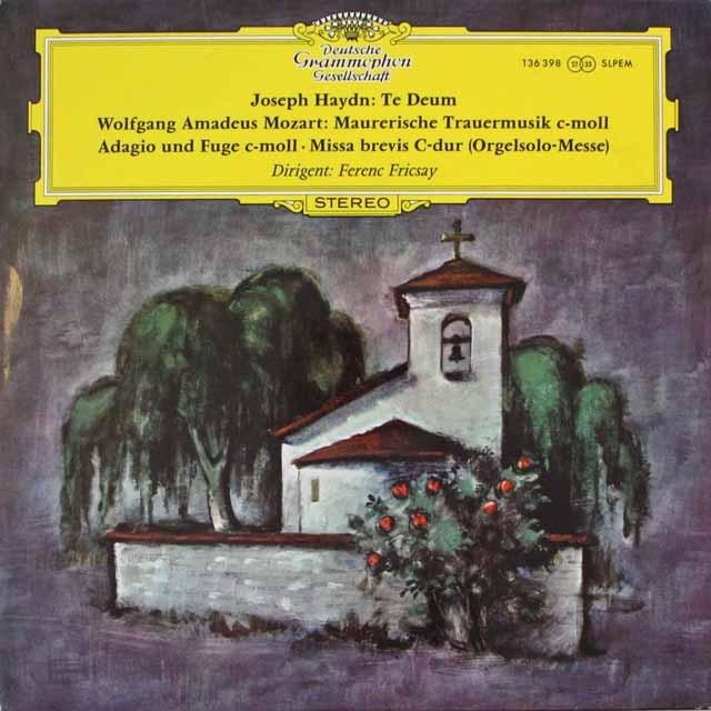 フリッチャイのモーツァルト/「オルガン・ミサ」ほか 独DGG 3314 LP レコード